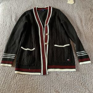 Black and red Tommy Hilfiger Cardigan